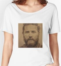 Tom Hardy-Brown Popart Women's Relaxed Fit T-Shirt