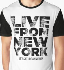 Live From New York, It's Saturday Night - Saturday Night Live Graphic T-Shirt