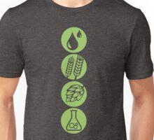 BEER: Water, Barley, Hops & Yeast Unisex T-Shirt