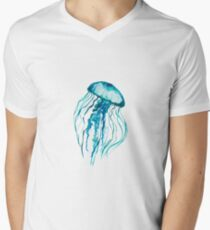 Watercolor Jellyfish Men's V-Neck T-Shirt