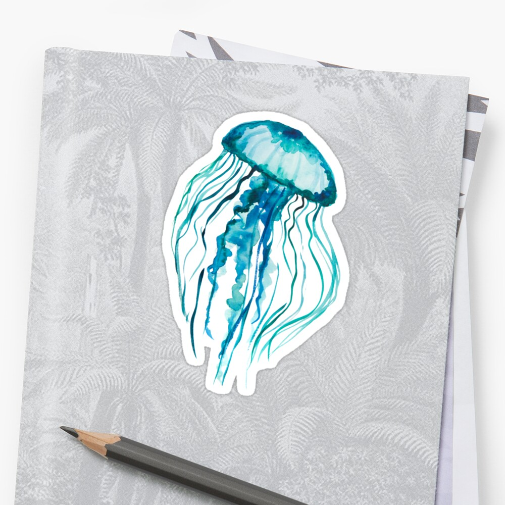 Watercolor Jellyfish by Ilze Lucero