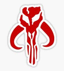 Mandalorian (red) Sticker