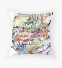 I can't draw anymore: end psychiatry's regime of forced drugging! Throw Pillow