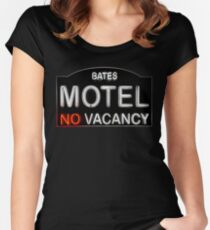 Bates Motel Sign Women's Fitted Scoop T-Shirt