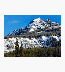 Snow Capped Pinnacles Photographic Print