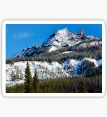 Snow Capped Pinnacles Sticker