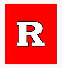 Rutgers red Photographic Print