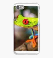Frog image bright colours iPhone Case/Skin