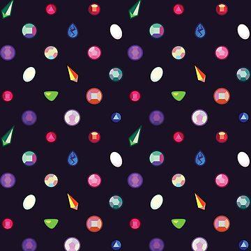 Steven Universe inspired gemstones by KirstieRutter