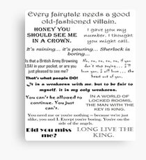 BBC Sherlock - Moriarty Quotes Canvas Print