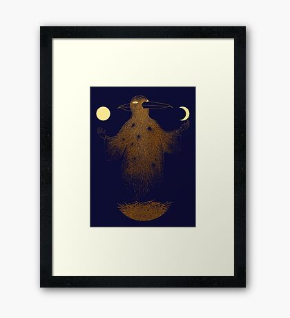 Crow Moon Shaman Framed Print