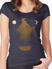 Crow Moon Shaman Women's Fitted Scoop T-Shirt
