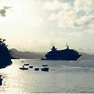 Cruise Ship Off Of Haiti by lenspiro