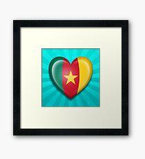 Cameroon Heart Flag Framed Print