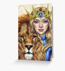 Leo Girl Greeting Card
