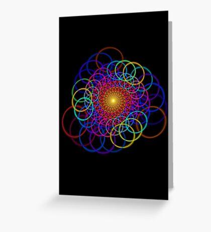 Borromean Ring Spiral Chain Greeting Card