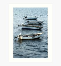 Outboard Motors Art Print