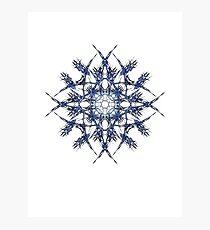 Barbed Blue - Fractal Art design Photographic Print