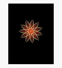Fractal Flower - Red  Photographic Print