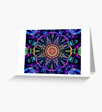 """Return to Awe"" - Psychedelic Abstract Mandala  Greeting Card"