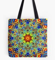 Psychedelic Melting Pot Mandala   Tote Bag
