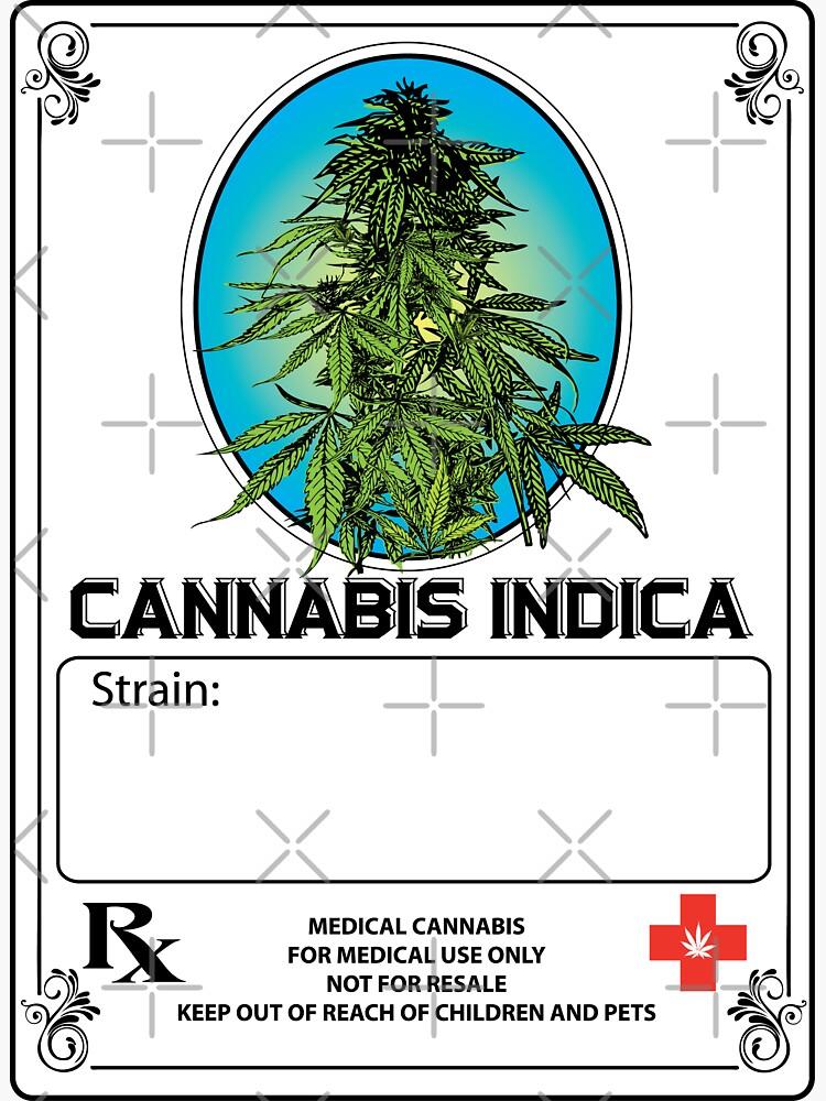 Cannabis Indica Jar Label de kushcoast