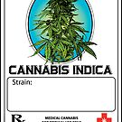 Cannabis Indica Jar Label by kushcoast