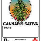 «Cannabis Sativa Jar Label» de kushcoast