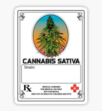 Cannabis Sativa Jar Label Sticker