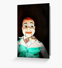Creepy Dummy Greeting Card