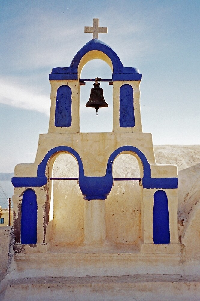 Blue Bells, Santorini by Leigh Penfold
