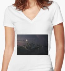 North Arm Fishing Boats Women's Fitted V-Neck T-Shirt