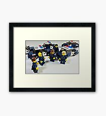 San Jose Police in LEGO Framed Print