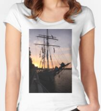 One and All at Sunset Women's Fitted Scoop T-Shirt