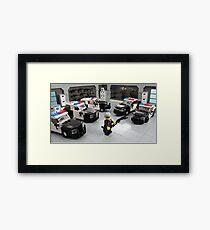 "Custom LAPD ""LEGO"" Minifigure and Cars Framed Print"