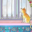 A cat by the window in Istanbul by moonlitnook