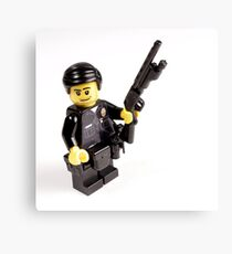 LAPD Patrol Officer - Custom LEGO Minifigure Canvas Print