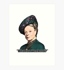 The Dowager Countess Art Print