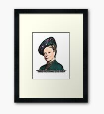 The Dowager Countess Framed Print