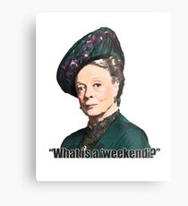 The Dowager Countess Metal Print