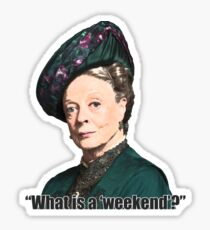 The Dowager Countess Sticker