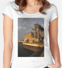 Restoring the Port Women's Fitted Scoop T-Shirt