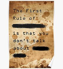 """""""The First Rule"""" Poster"""