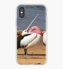 """Say Yes Darling"" ~ Australian Pelican's Mating Display iPhone Case"