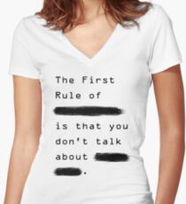 """""""The First Rule"""" - Sans Background Women's Fitted V-Neck T-Shirt"""