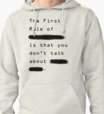 """""""The First Rule"""" - Sans Background Pullover Hoodie"""