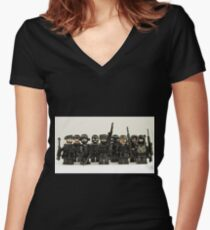LEGO Snipers Women's Fitted V-Neck T-Shirt