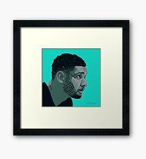 Tim Duncan Framed Print