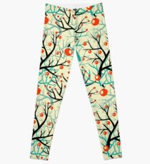 apples berries branch seamless ornament Leggings