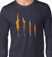 Flames of Science (Bunsen Burner Set) - Orange Long Sleeve T-Shirt